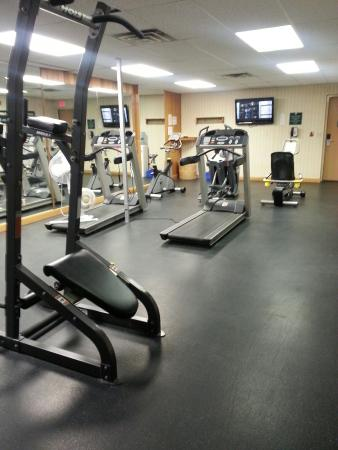Douglas Fir Resort & Chalets : The gym at Douglas Fir. At least 3 movie channels available for workout.