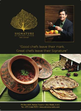 Signature by sanjeev kapoor Abu Dhabi