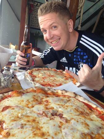 Bière + Pizza = Content