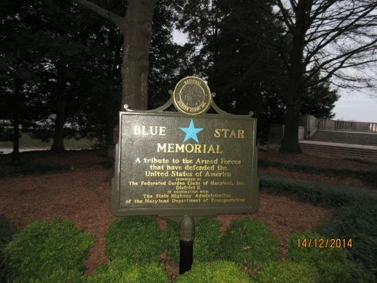 Maryland World War II Memorial: The  Blue Star Memorial at the Scenic view