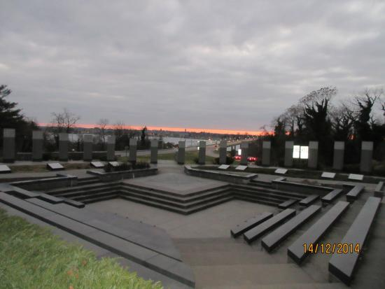 Maryland World War II Memorial: View of Annapolis from top of the hill