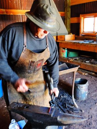 Francisco Fort Museum: our favorite blacksmith at work 2014