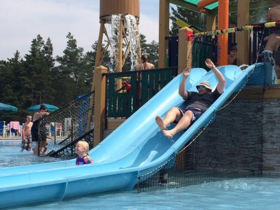 Jellystone Park of Western New York: Loosing to Leah on the waterside race.