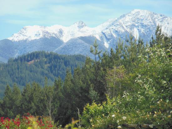 Wai-Natur Naturist Park: Snow on the Richmond Ranges