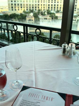 Eiffel Tower Restaurant At Paris Las Vegas: Window Side Table.