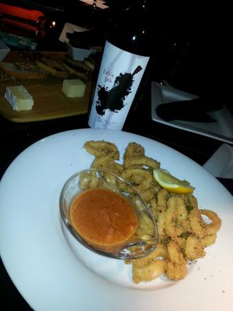 Iron Bridge Wine Company: Wine, cheese and calamari.