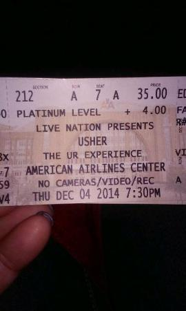 American Airlines Center: ticket