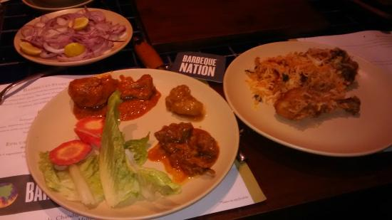 Barbeque Nation: Glimpse of little what i took for maincourse :)