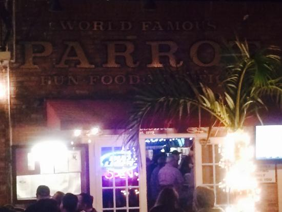 The Parrot Lounge: The entrance.
