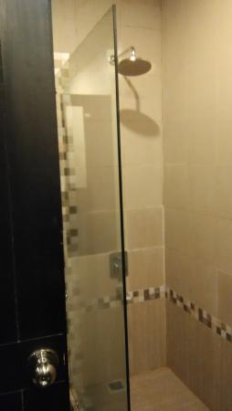 The Ardjuna Boutique Hotel & Spa: The broken bathroom door