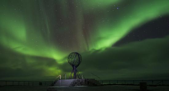 Honningsvag, Norwegia: Nordlys på Nordkapp Foto Trond Trondsen