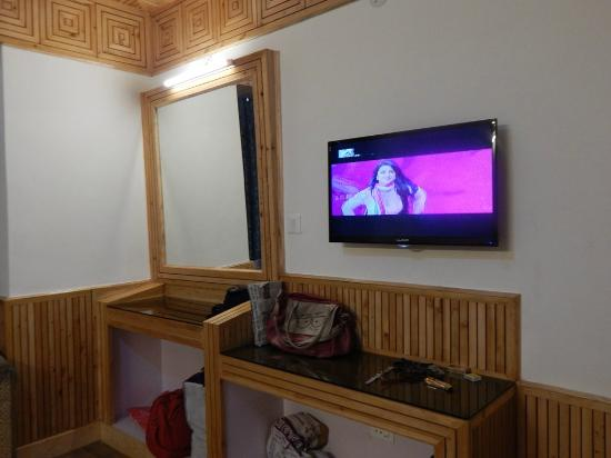 Hotel Himgiri: tv and dressing table