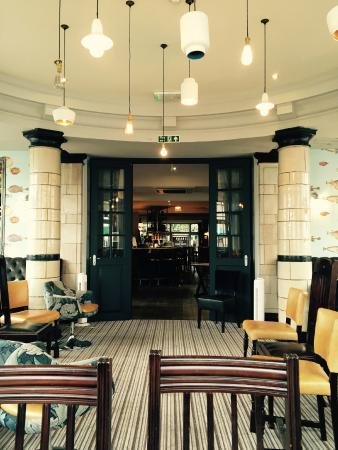 The Manor Arms: A bay window area available for group bookings or dining