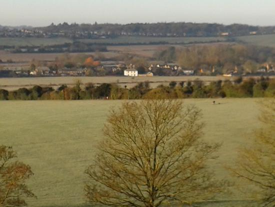 Sarum Heights: View across the valley from the bedroom