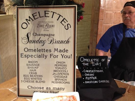 Champagne Sunday Brunch: Omelette Station on 12/14/14