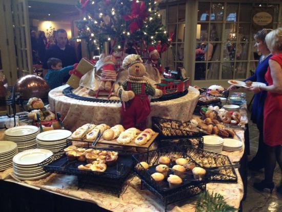 Champagne Sunday Brunch: Breakfast Treats Table on 12/14/14
