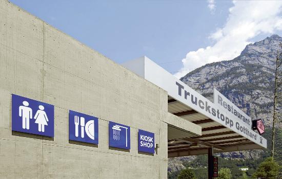 Erstfeld, Suisse : Gratis WC/ DU für Kunden
