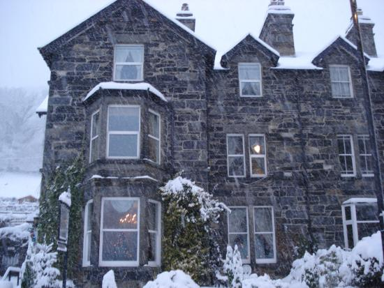 Afon View Guest House: Afon View in the winter