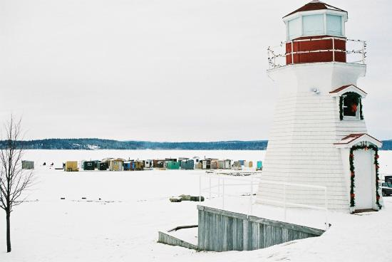 Rothesay, Canada: Lighthouse and Fishing Shacks