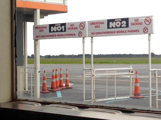 Stewart Island Flights: departure Gate!