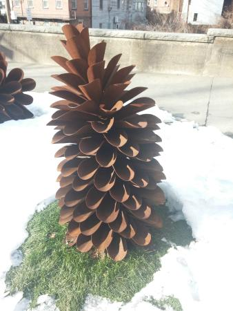 Brattleboro Museum And Art Center Out Of Doors Pine Cone