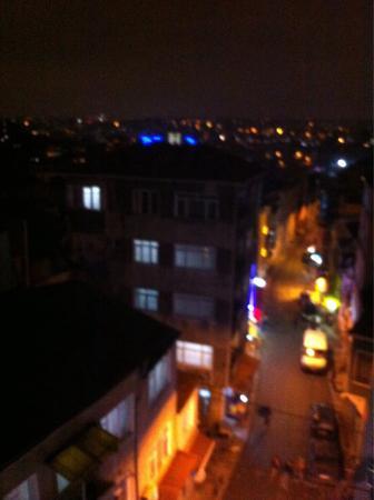T-Loft Residence : Вид из окна 5 этажа на ночной город