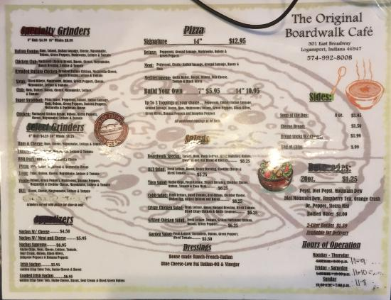 Logansport, IN : Menu