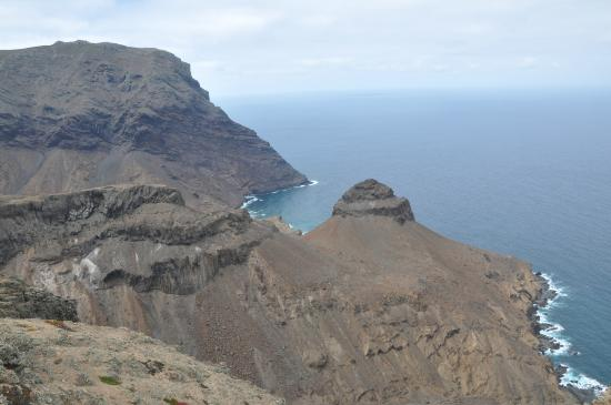 St Helena Island: Turks Cap - one of many prominent and spectacular geological features in St Helena