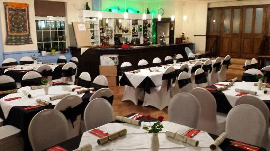 Banqueting Hall Set Up For A Christmas Party Picture Of