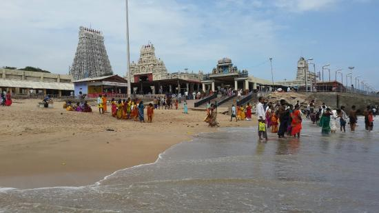 Thiruchendur murugan temple from sea shore