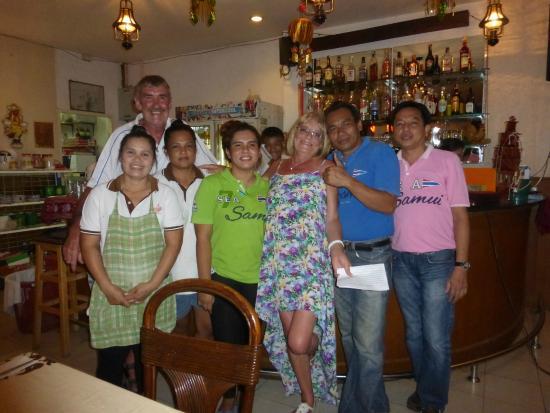 The Thaï Restaurant Anong: the great Anong team