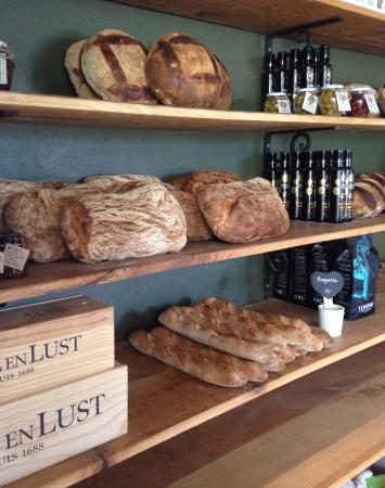 Wonderful artesian bread .