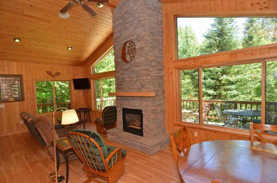 Treeland Resort : Moon Cabin Living Area