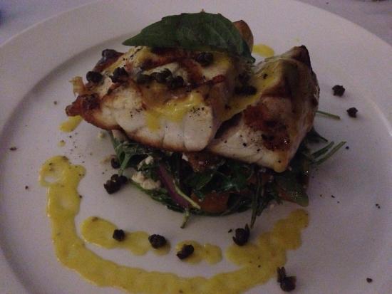 Tha Fish: Barramundi served with pumpkin & fetta salad....perfect