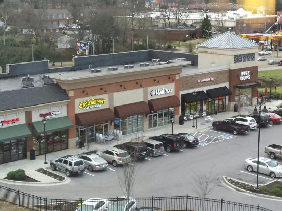 Courtyard Knoxville West Bearden View From Room Nice Strip Mall With Many Little