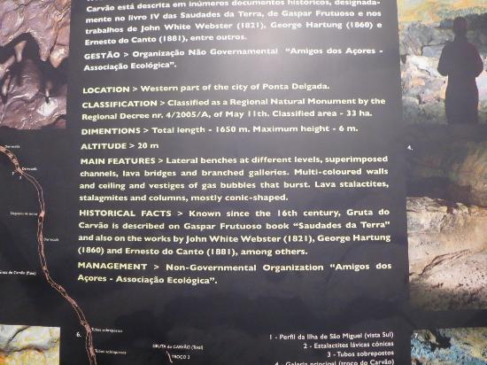Gruta do Carvao: Info Board