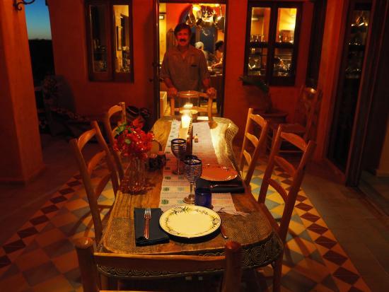 Villa Santa Cruz: the terrace and a special birthday dinner