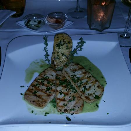 Lebenbauer: Grilled tofu and polenta