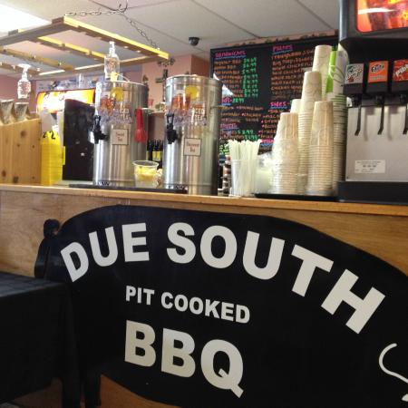 Due South Pit Cooked BBQ: Counter