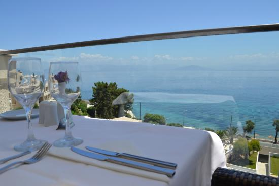 MarBella Corfu Hotel: view from buffet resturant