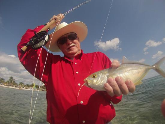 The Western Caribbean Fly Fishing School: Dad catching bone fish