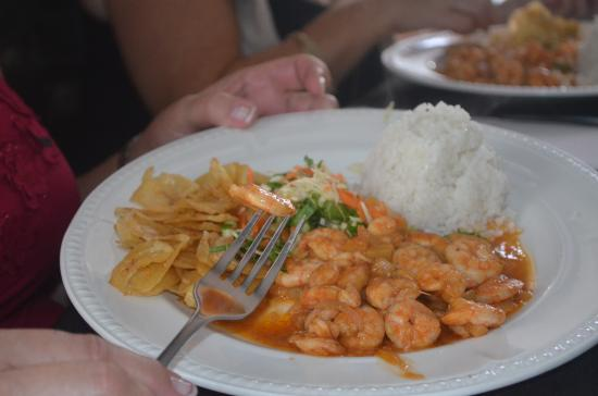 La Pina de Plata: et les crevettes délicieuses