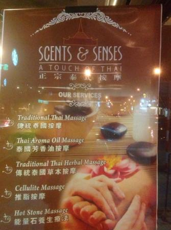 Scents & Senses : some of the types of massage provided