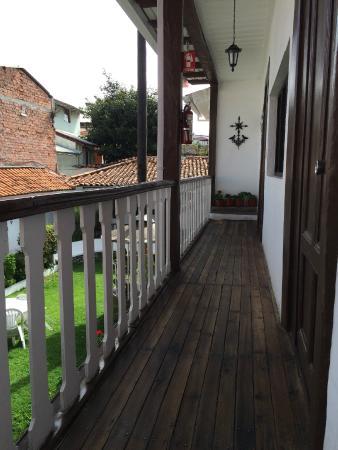 Hostal Macondo: hallway to our room