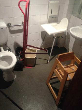 high chairs in toilet - Picture of Tosolini\'s, Canberra - TripAdvisor