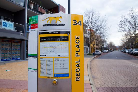 Regal Apartments: Yellow Cat, Free bus at Regal