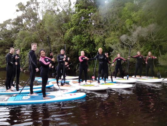 Bazil's Hostel & Surf School: paddle boarding with bazils
