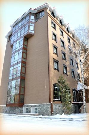 Zvezda Hotel: Зимний фасад отеля