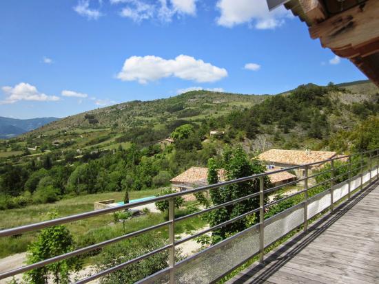 Observatoire des Baronnies Provençales : Vue de la terrasse de l'observatoire