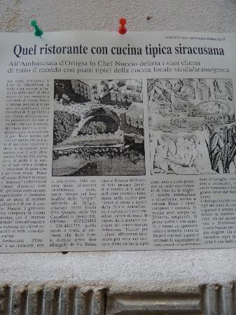 Ambasciata d'Ortigia: Il giornale parla di noi